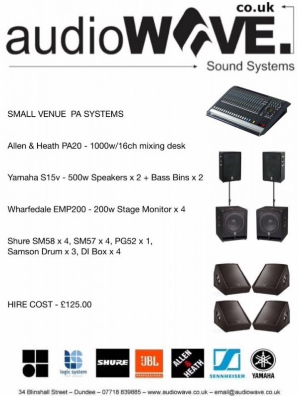 Small Venue & Vocal PA Systems